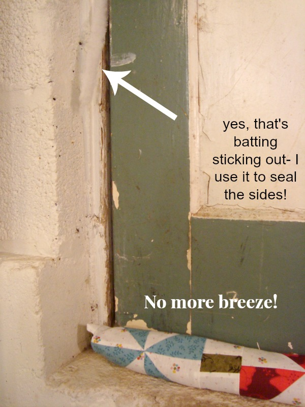 Door Draft Stopper Tutorial. Make your own to stop the breeze!