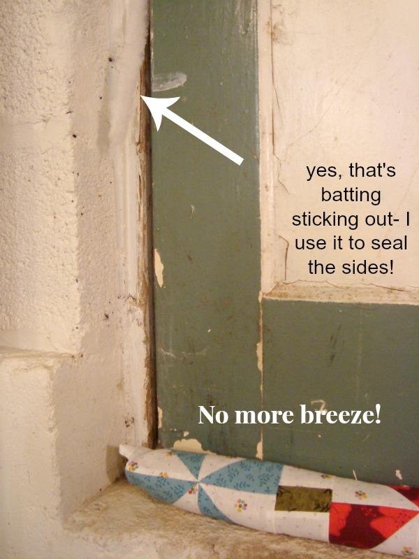 Door Draft Stopper Tutorial. Make your own to stop the breeze!