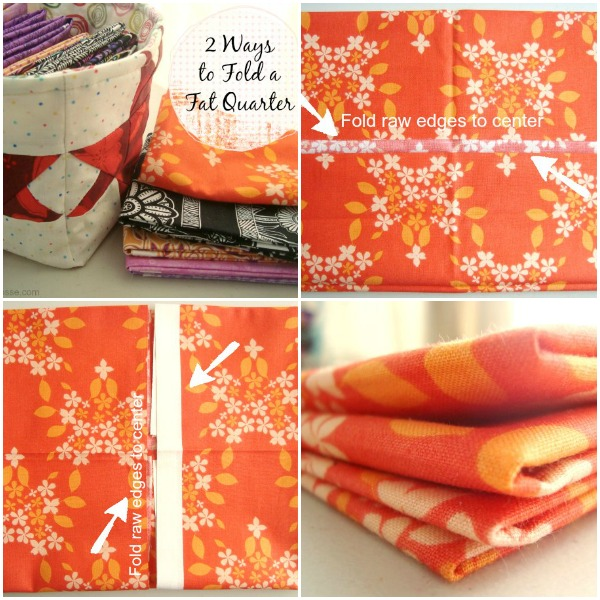 fat quarter folding- 2 different ways, patchwork posse