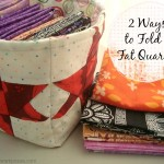 2 ways to fold a fat quarter- patchwork posse
