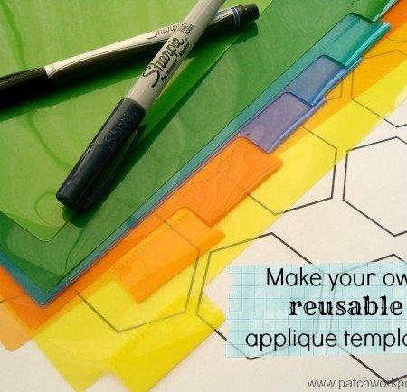 plastic applique templates