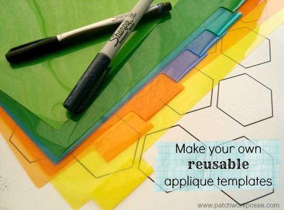 How to Make Your Own Plastic Hexagon Template - : quilting templates plastic - Adamdwight.com