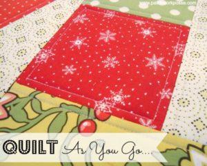 quilt as you go tutorial #quilt #machinequilt patchworkposse.com