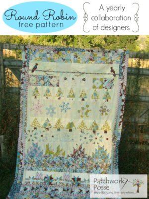 round robin 5- free quilt pattern