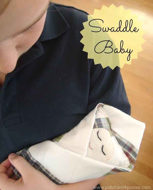 sew a swaddle baby