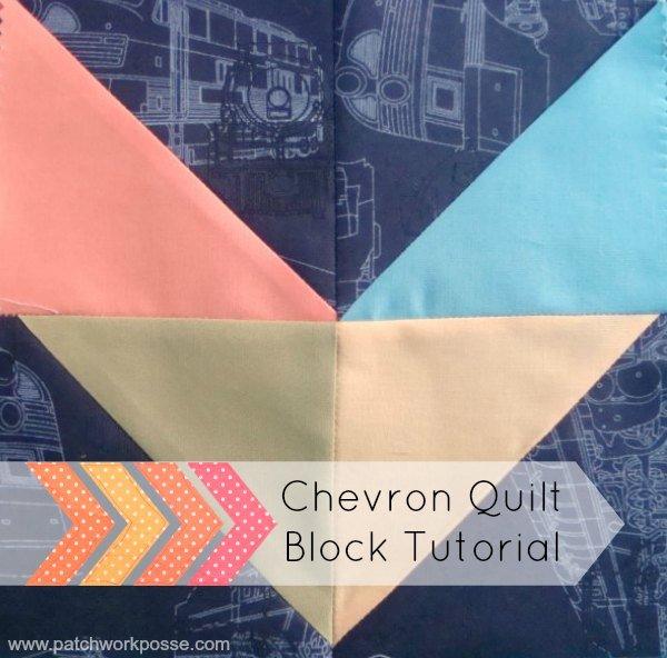 Easy Chevron Quilt Block Tutorial