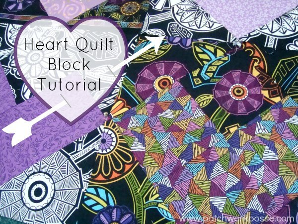 heart quilt block tutorial | patchwork posse