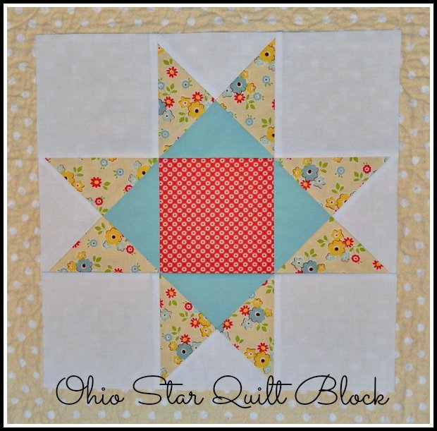 Ohio Star Quilt Block by Tessa