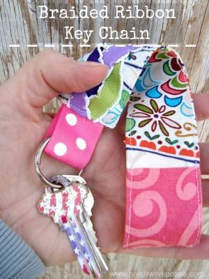 Braided Ribbon Key Chain   easy sewing project   #tutorial #freepattern