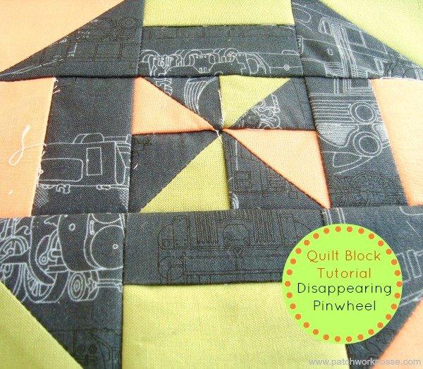 disappearing pinwheel quilt block tutorial | patchworkposse