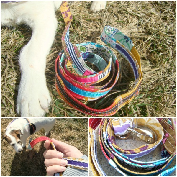 Sew a leash using scrap ribbon and fabric | dog leash tutorial #pets