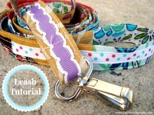 Sew a leash using scrap ribbon and fabric   dog leash tutorial #pets