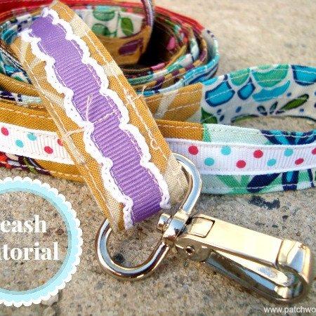 Sew a leash using scrap ribbon and fabric | dog leash tutorial #pets