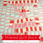 mitered quilt block tutorial using striped fabric | patchworkposse.com