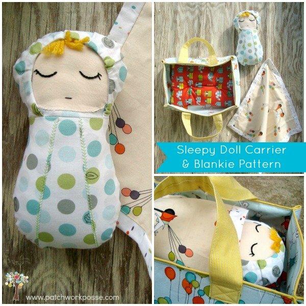Sleepy doll, Carrier, Blankie Pattern | patchwork posse