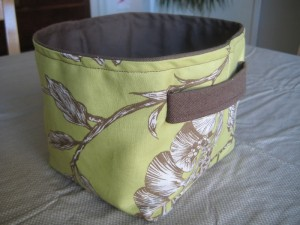 Fabric baskets with handles
