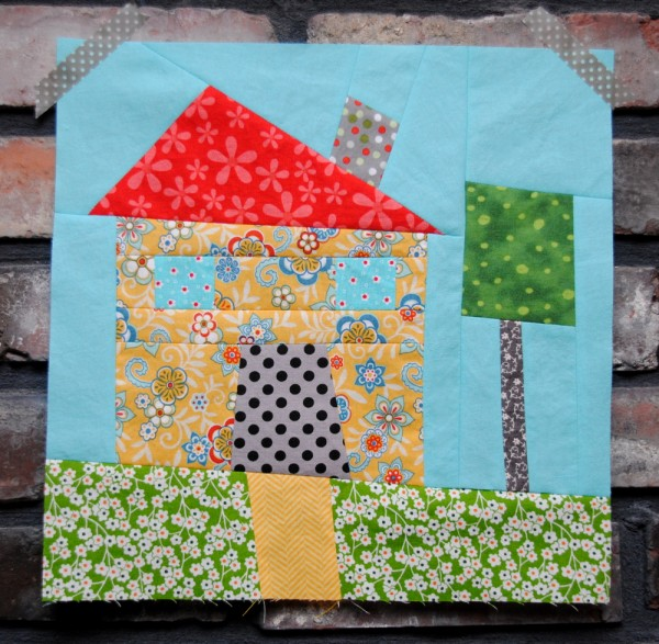 Wonky House Quilt Block   Round Robin Quilt Along   patchwork posse
