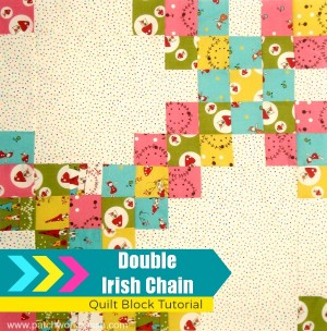 double irish chain quilt block tutorial | patchwork posse #quiltblock #tutorial #freepattern
