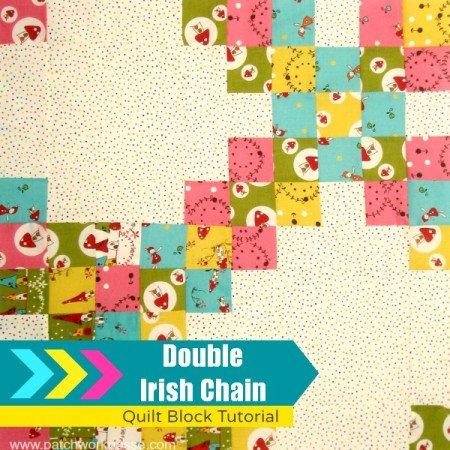 double irish chain quilt block tutorial   patchwork posse #quiltblock #tutorial #freepattern