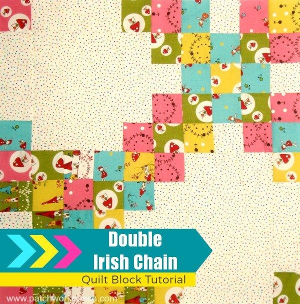 double irish chain quilt block tutorial | patchwork posse #quiltblock #tutorial #freepattern