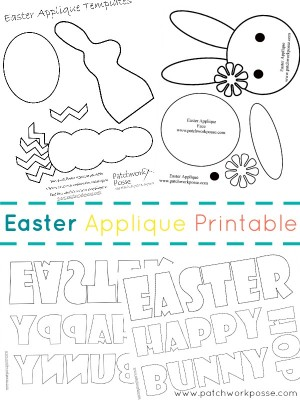 free easter applique printable #easter | patchwork posse