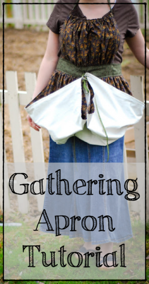 gathering apron tutorial