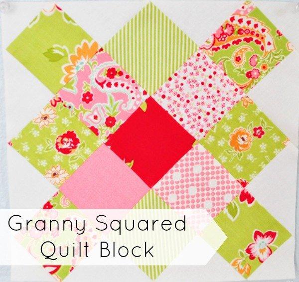 granny squared quilt block | patchwork posse #quiltblock #quilting