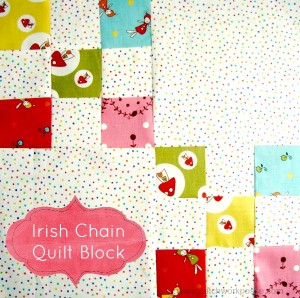 irish chain quilt block tutorial #quiltblock patchwork posse