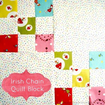 irish chain quilt block tutorial #quiltblock patchwork posse