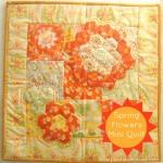 Spring Flowers a Hexagon Quilt