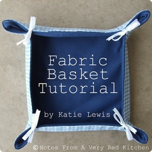 Fabric Basket Tutorial (Title Picture)