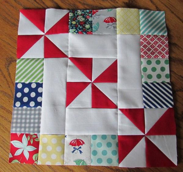 Spins & Squares Quilt block | round robin 2014