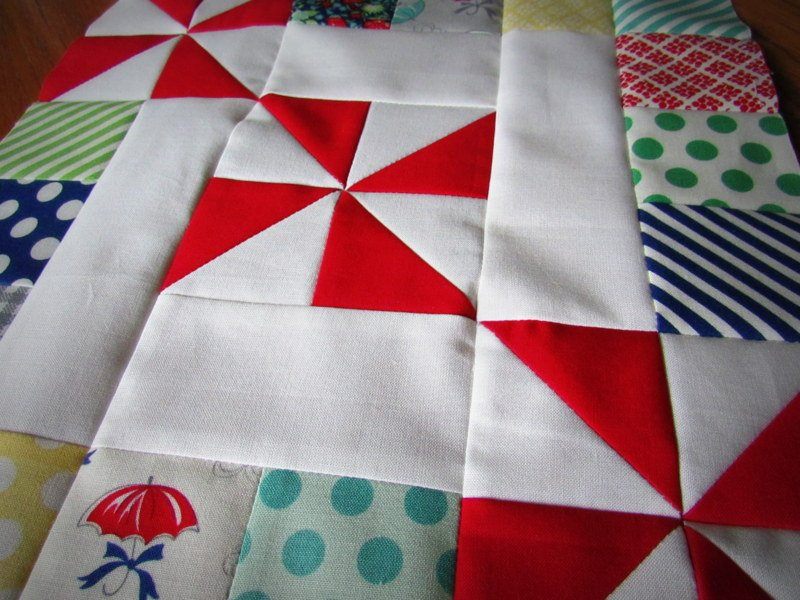 Spins & Squares Quilt block | round robin 2014