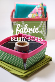 fabric berry boxes