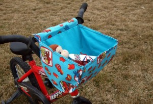 fabric basket for your bike