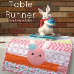 Quilt as You Go Table Runner Tutorial with free printable applique