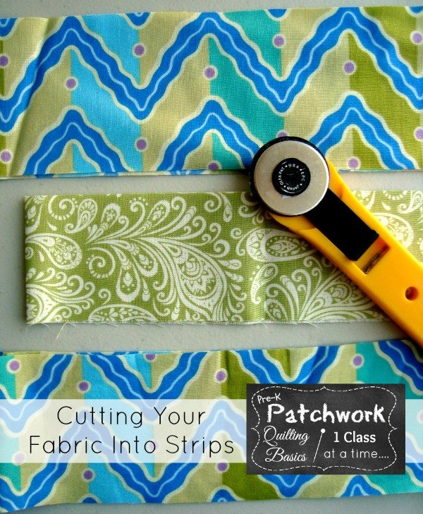 Cutting your fabric into strips   quilting101   patchwork posse #fabric