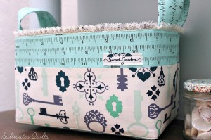 fabric basket with cute handles