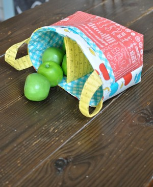 fabric basket with separator