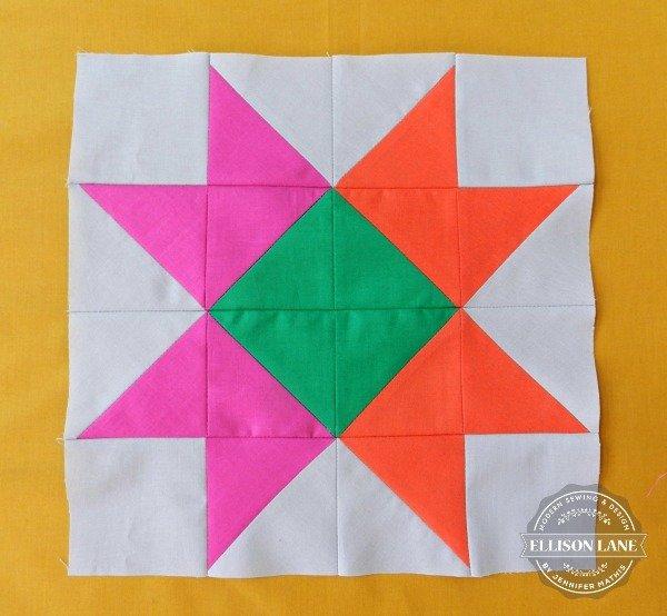 ribbon star quilt block tutorial | round robin |patchwork posse