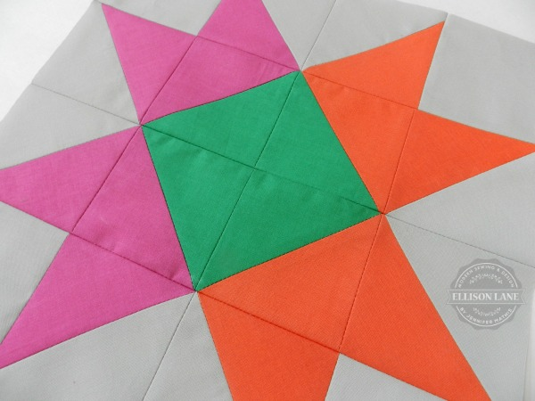 ribbon star quilt block tutorial | round robin |patchwork posse