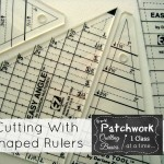 using a quilt template for cutting fabric