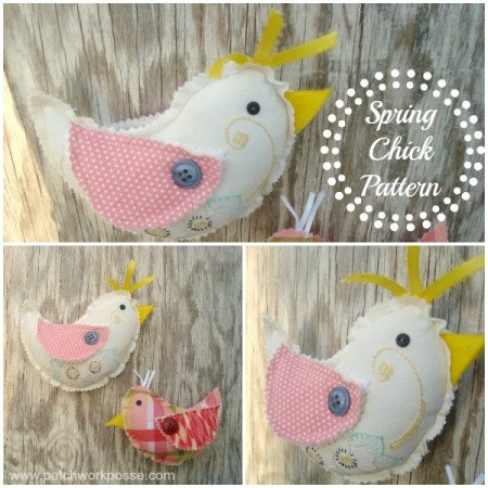 Spring Chick Pattern   easy sewing pattern for #easter #spring   patchwork posse