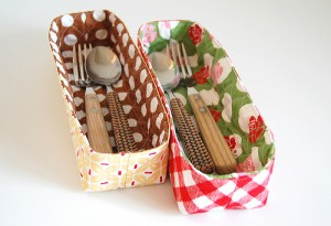 tall skinny fabric basket