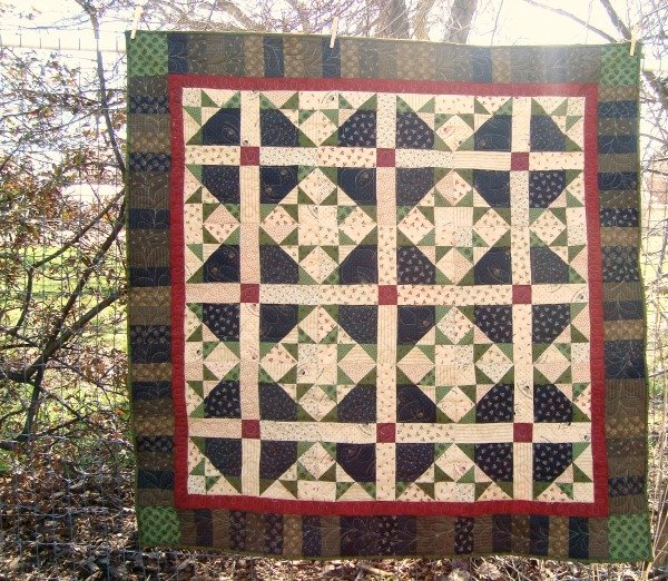 image relating to Printable Company Limited Quilts identified as Turkey Tunes Lap Quilt Guidebook - Patchwork Posse