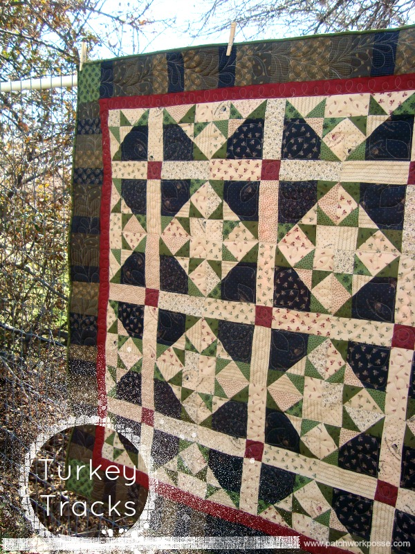graphic regarding Printable Company Limited Quilts known as Turkey Songs Lap Quilt Manual - Patchwork Posse