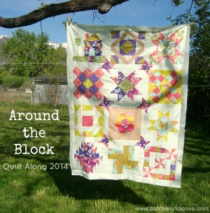 Around the block round robin quilt along Quilt Sashing layout