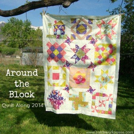 Around the block round robin quilt along Quilt Sashing layout