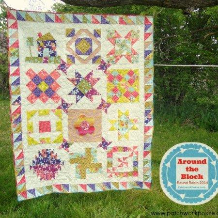 around the block quilt along   round robin 2014   patchwork posse