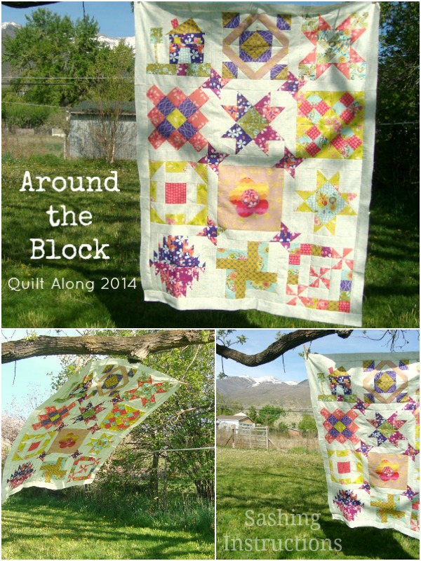 around the block sashing for the quilt   patchwork posse #quiltalong